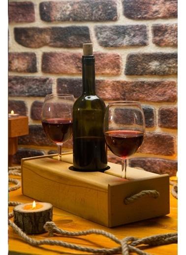Joy Kitchen  3 Parça Ahşap Şarap Servisi (2 Kişilik) Renkli
